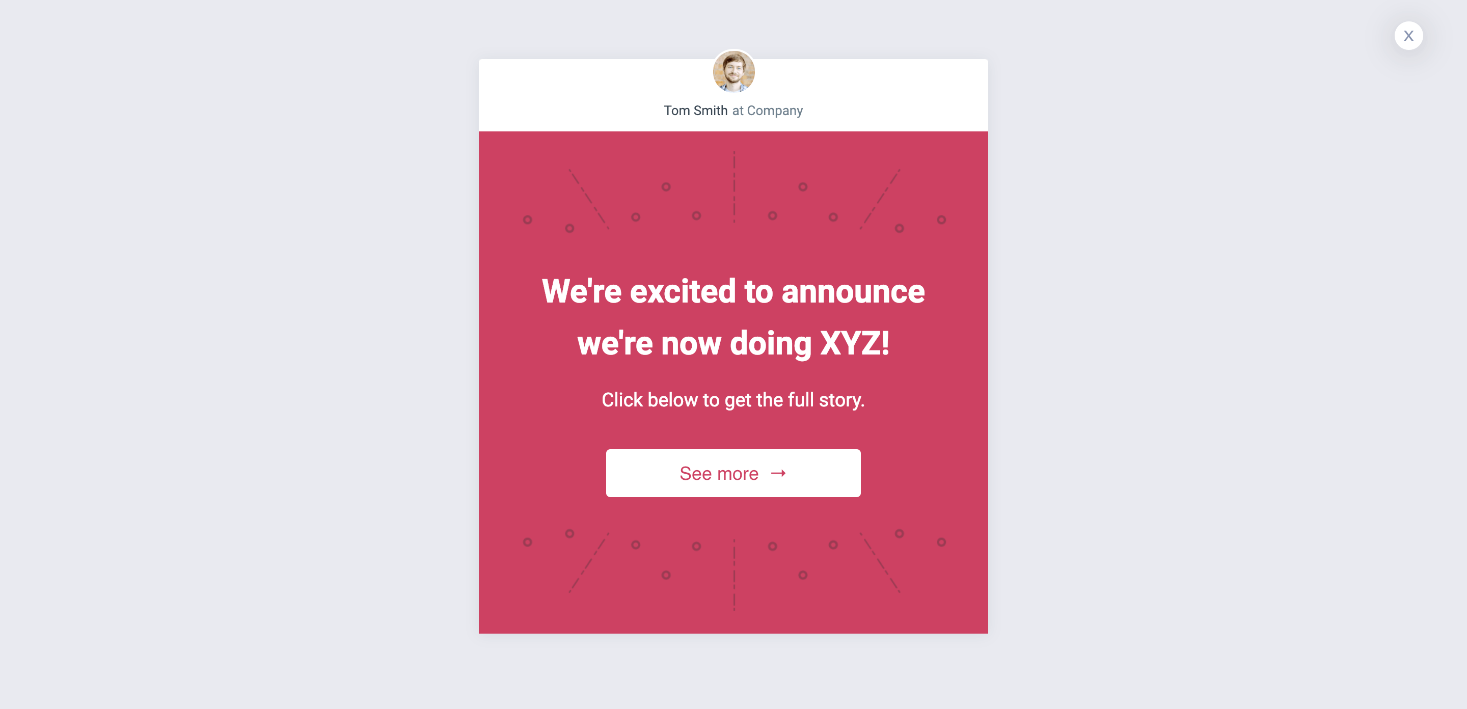 Announcement Popup Template