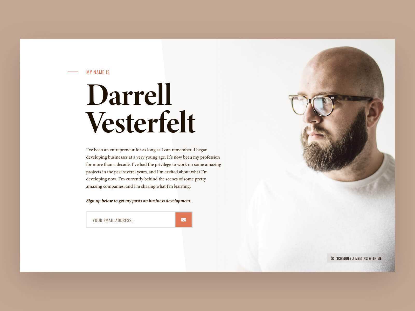 Darrell Vesterfelt's Personal Landing Page