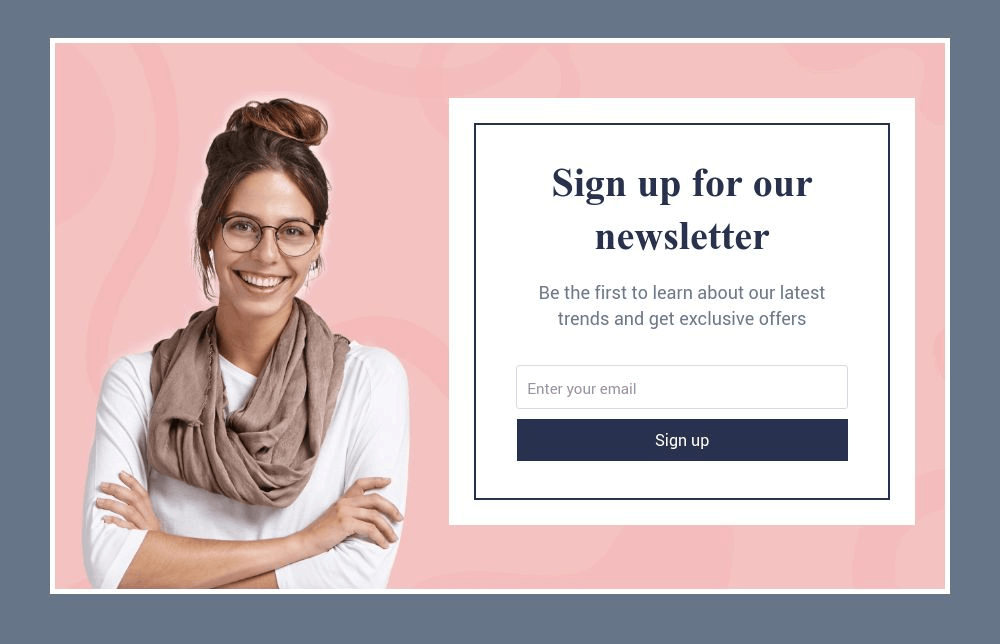 Personal Brand Newsletter Form