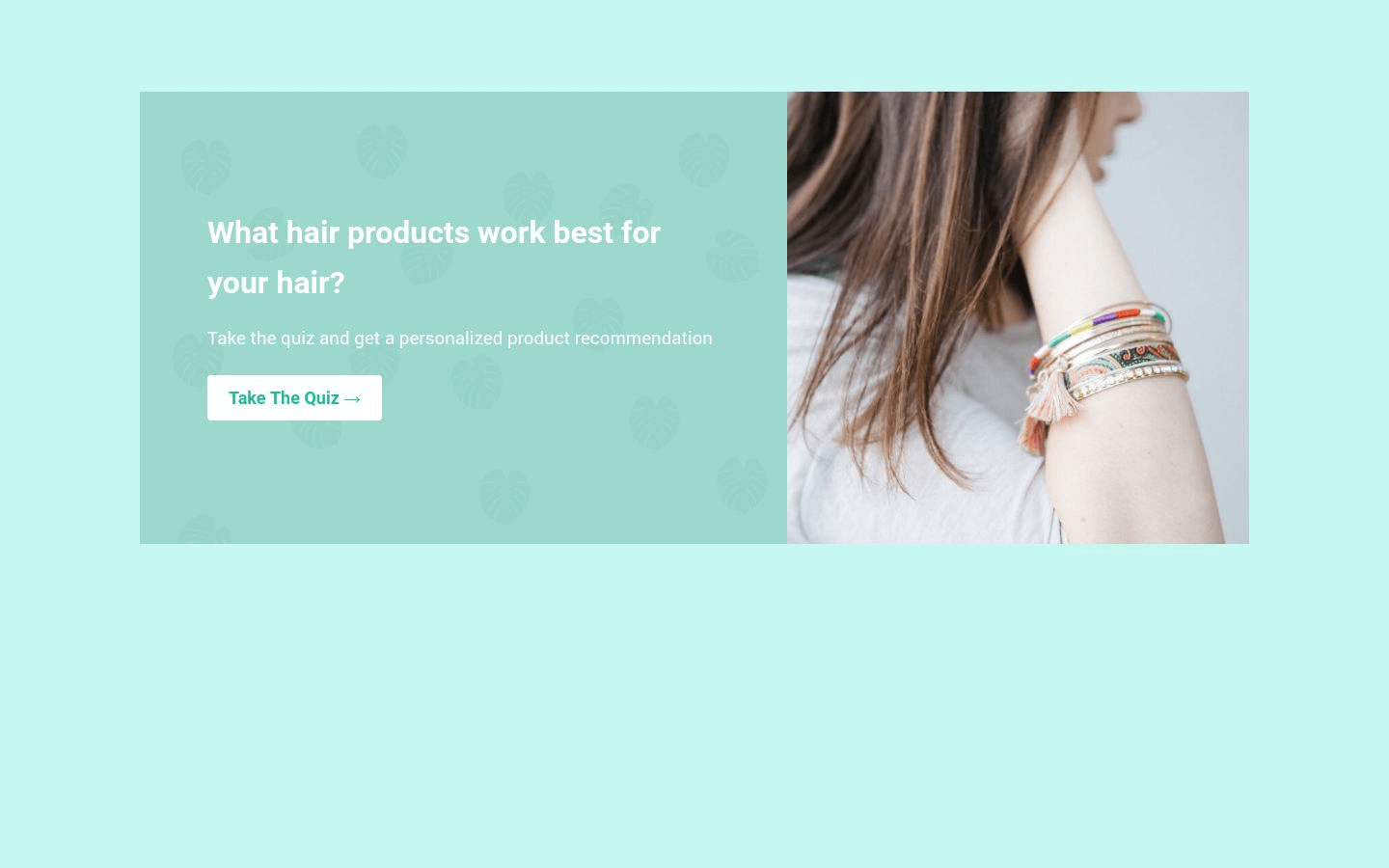 Hair Product Quiz Landing Page Template