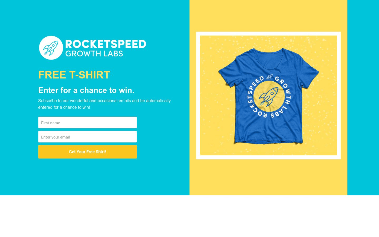 T-Shirt Contest Landing Page Template