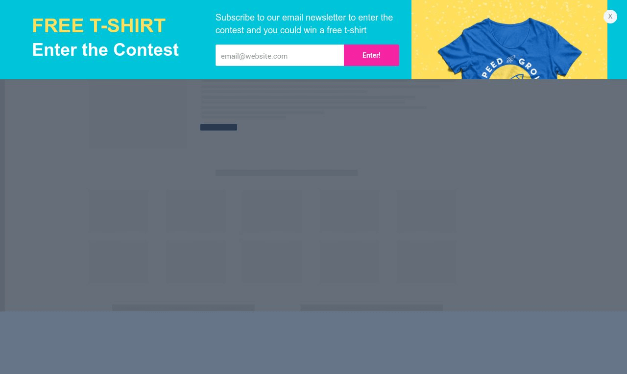 T-Shirt Contest Sticky Bar Template