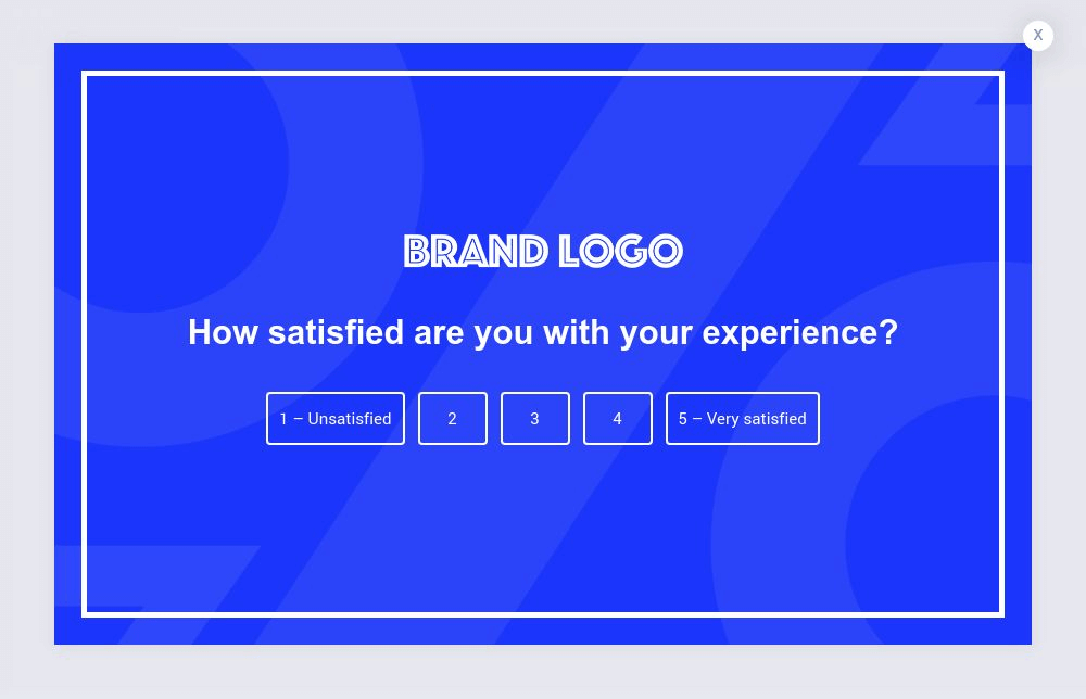Rating Survey Popup Template