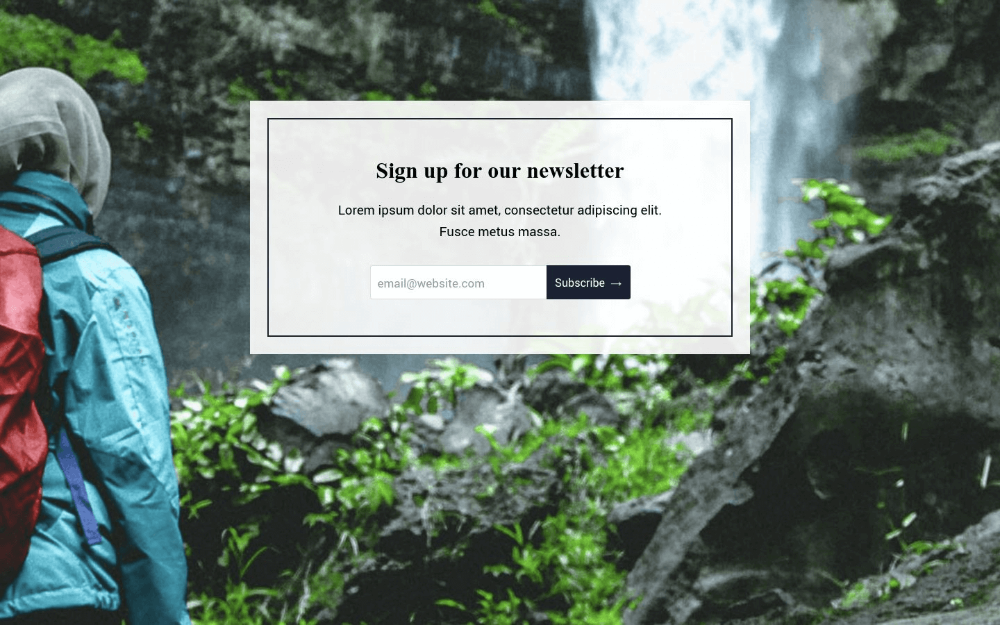 Newsletter Landing Page Template