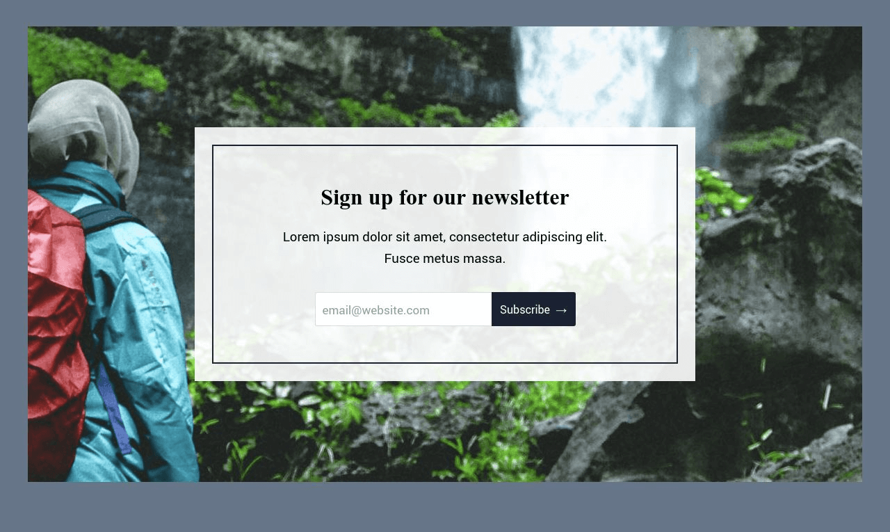 Newsletter Subscribe Form Template