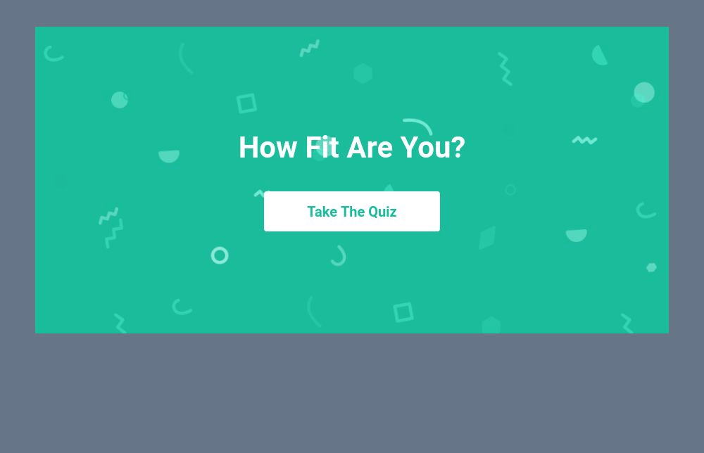 Fitness Quiz Template