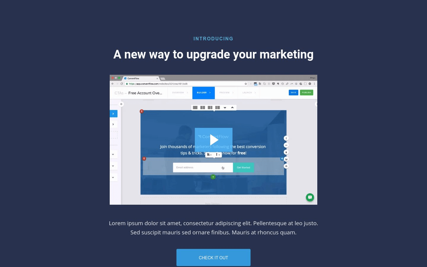 Feature Announcement Landing Page Template
