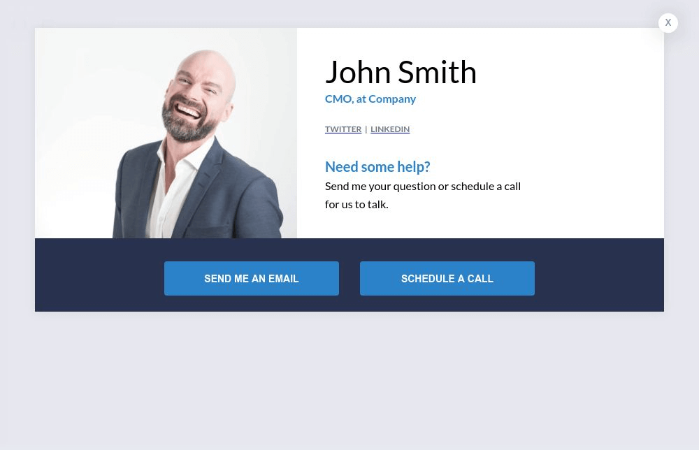 Demo Schedule Form Popup Template (Male)