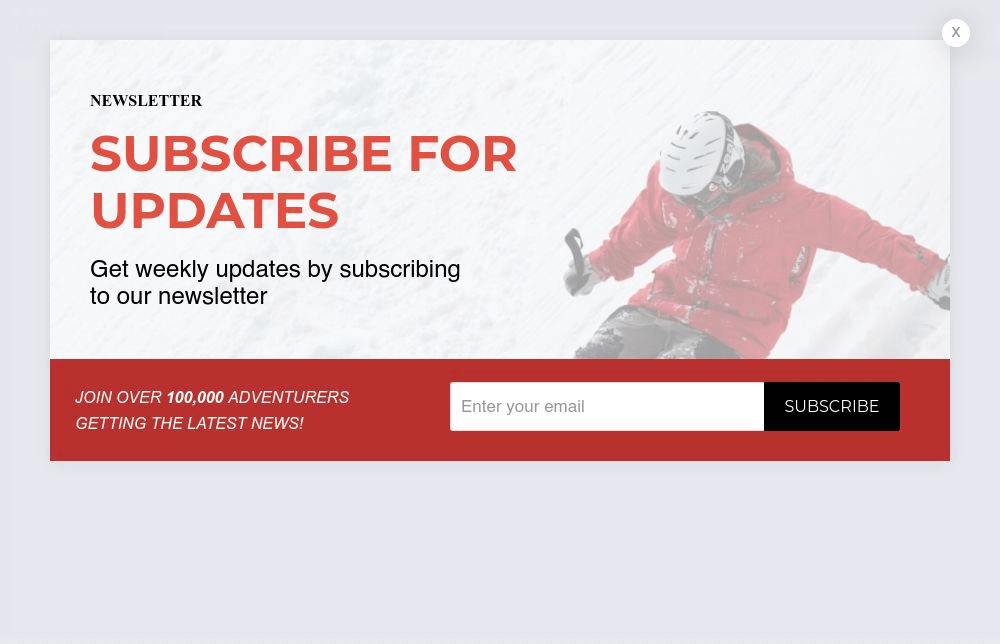 Lifestyle Blog Newsletter Subscribe Form Popup Template