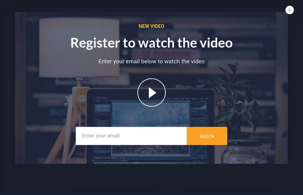 Gated Video Popup Form Template