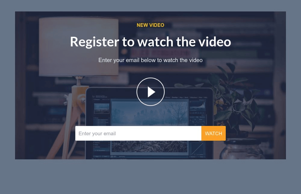 Gated Video Form Template