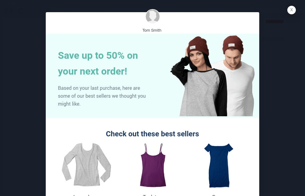 Cross-Sell Popup Template