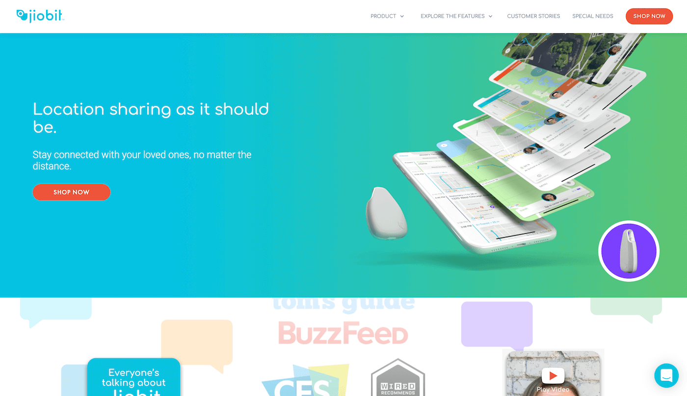 Jiobit Landing Page Example