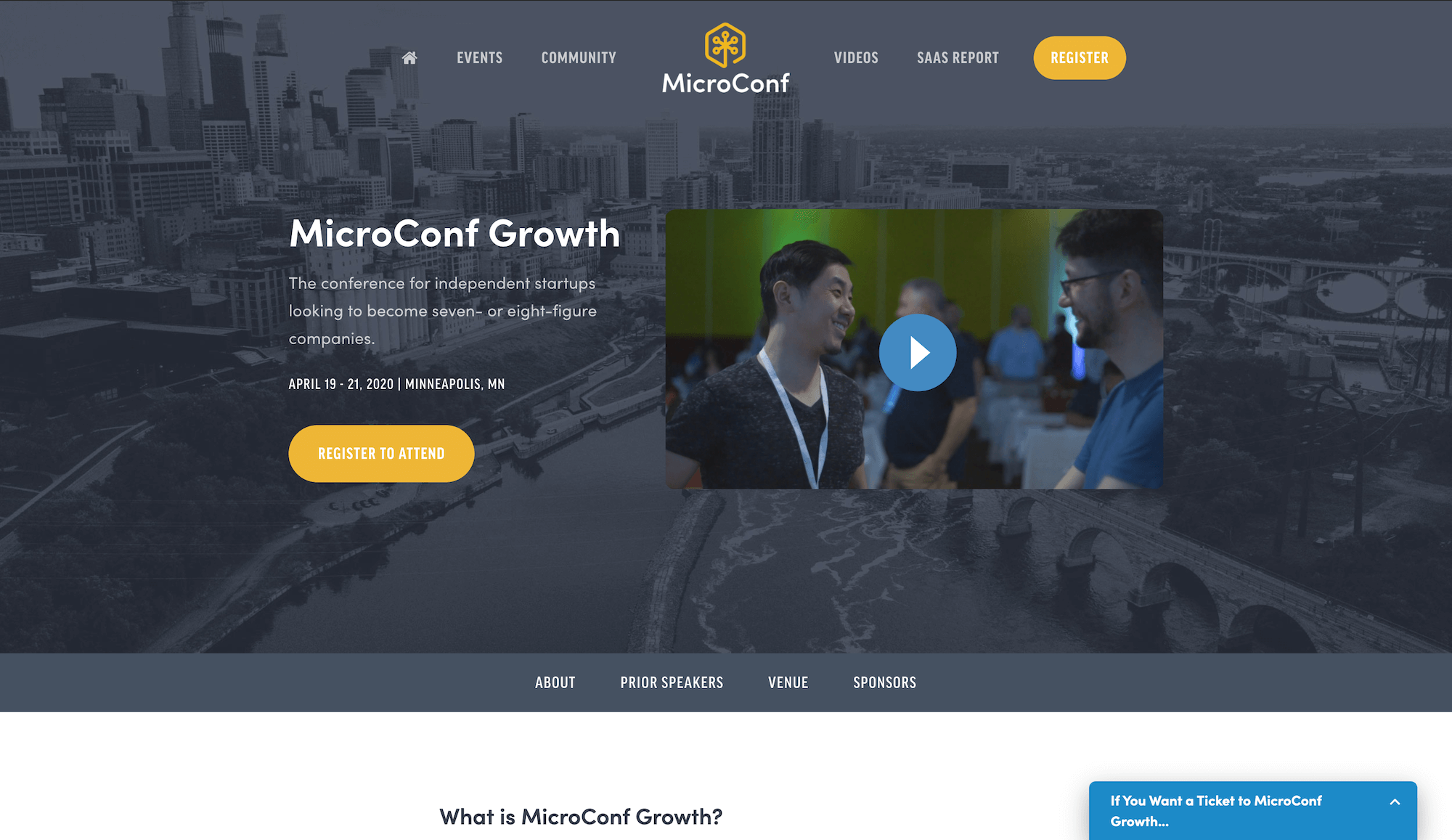 MicroConf Landing Page Example