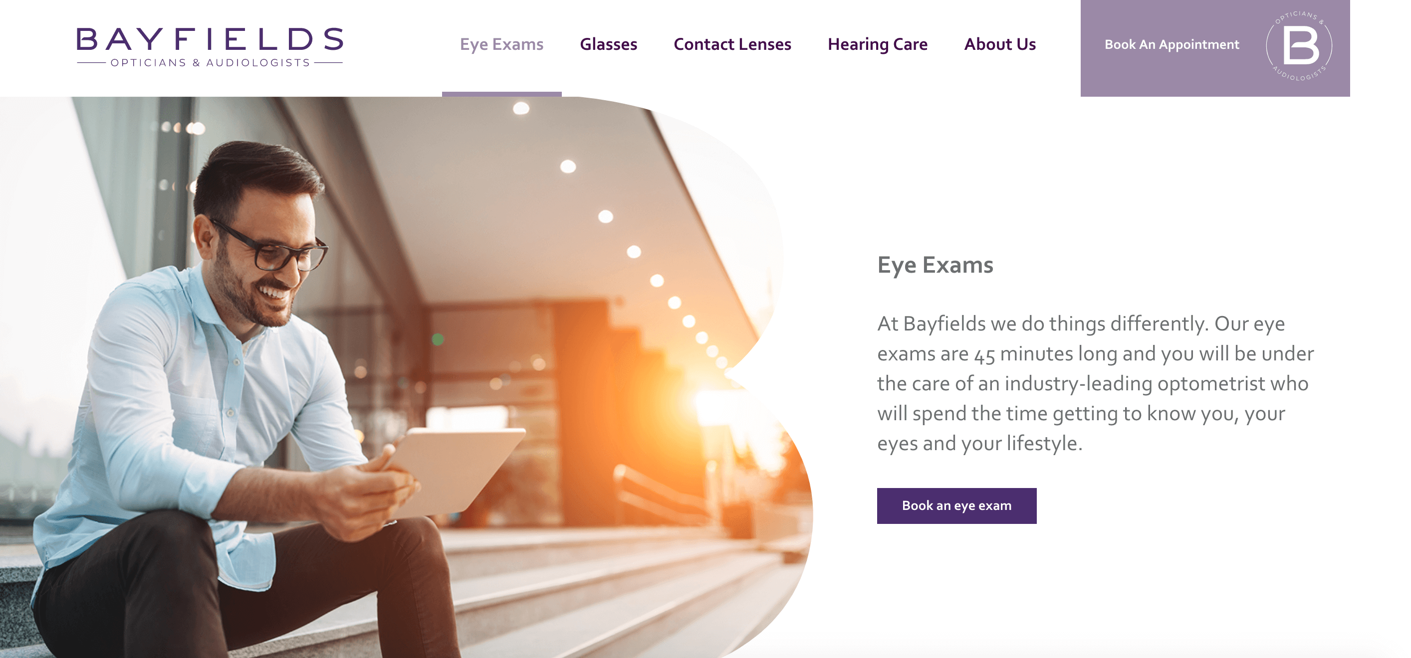 Bayfield Opticians Landing Page Example
