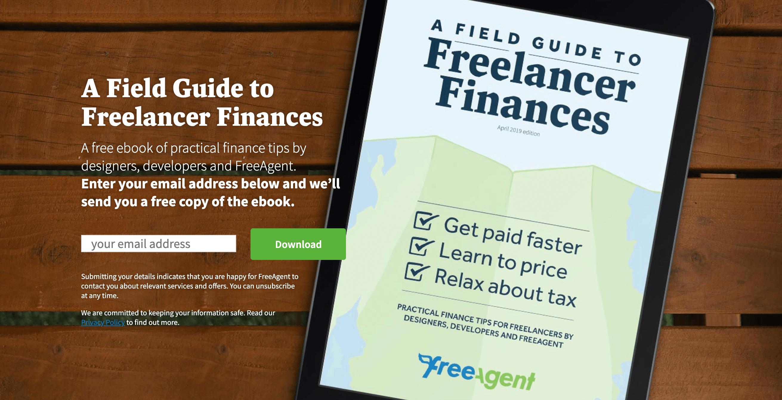 FreeAgent eBook Landing Page