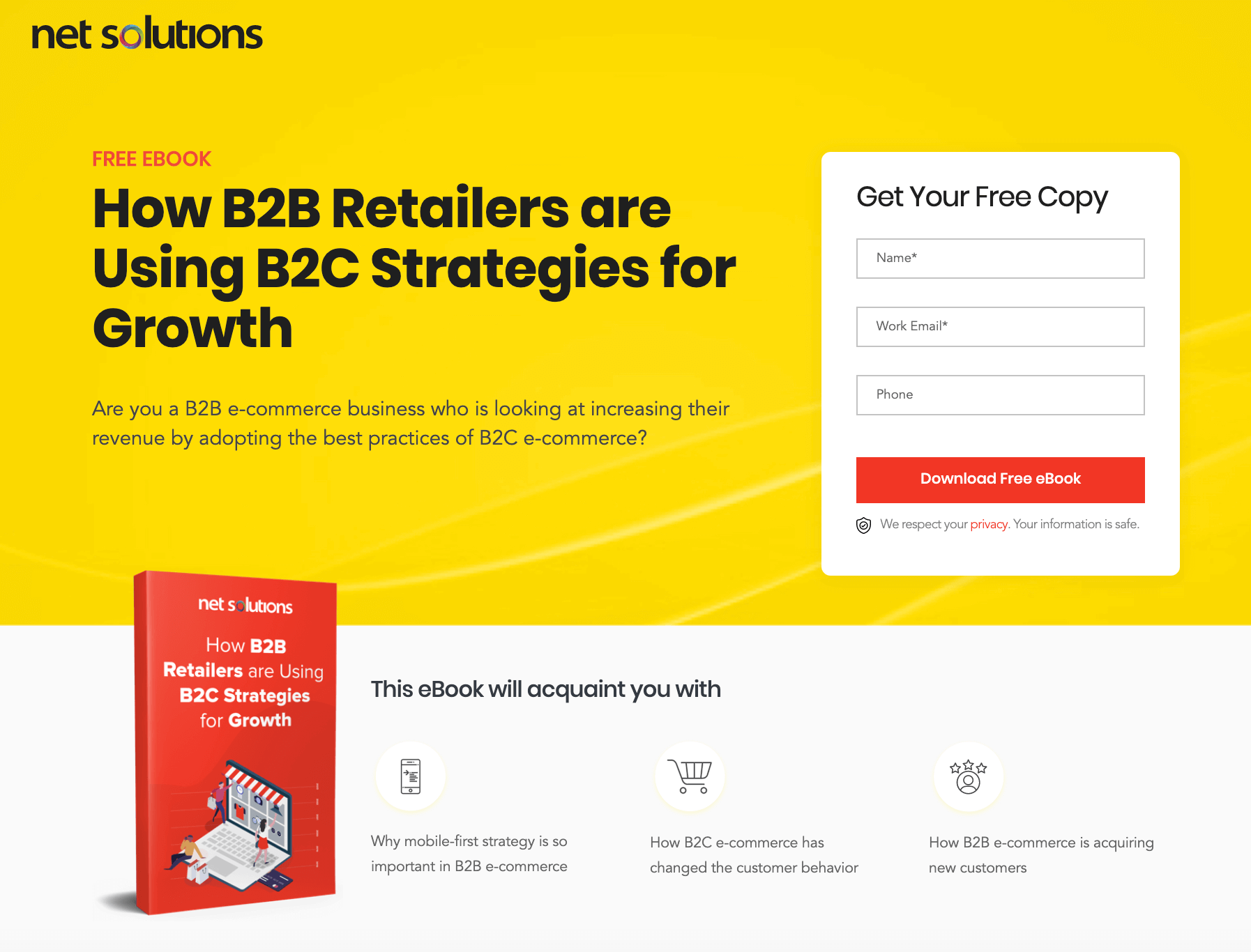 Net Solutions eBook Landing Page