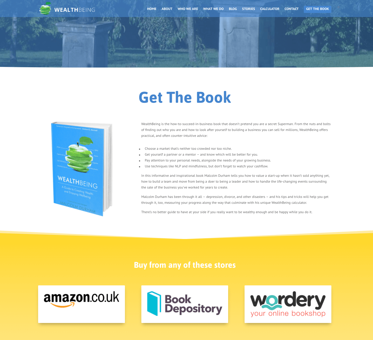 Wealthbeing's Book Landing Page