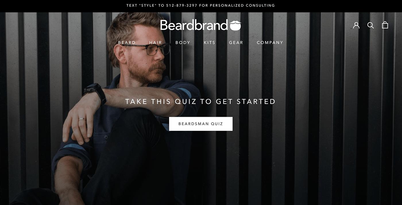 Shopify Landing Page: Beardbrand home page