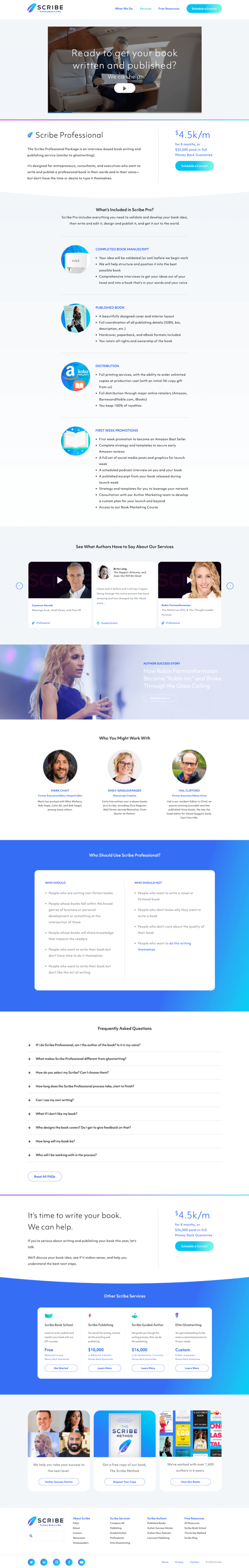Scribe Video Landing Page Example