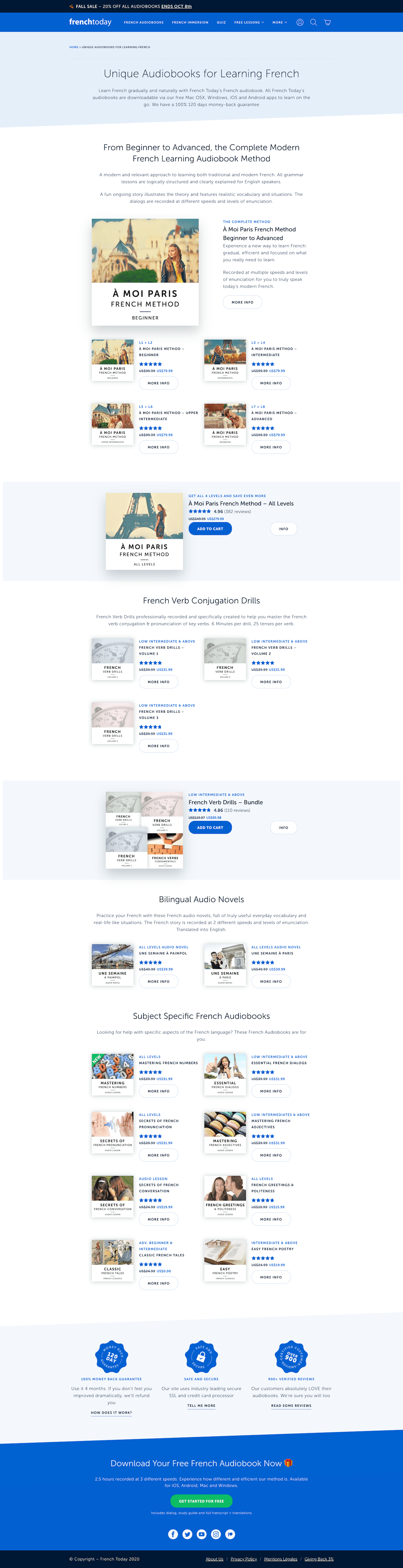 French Today Landing Page Example