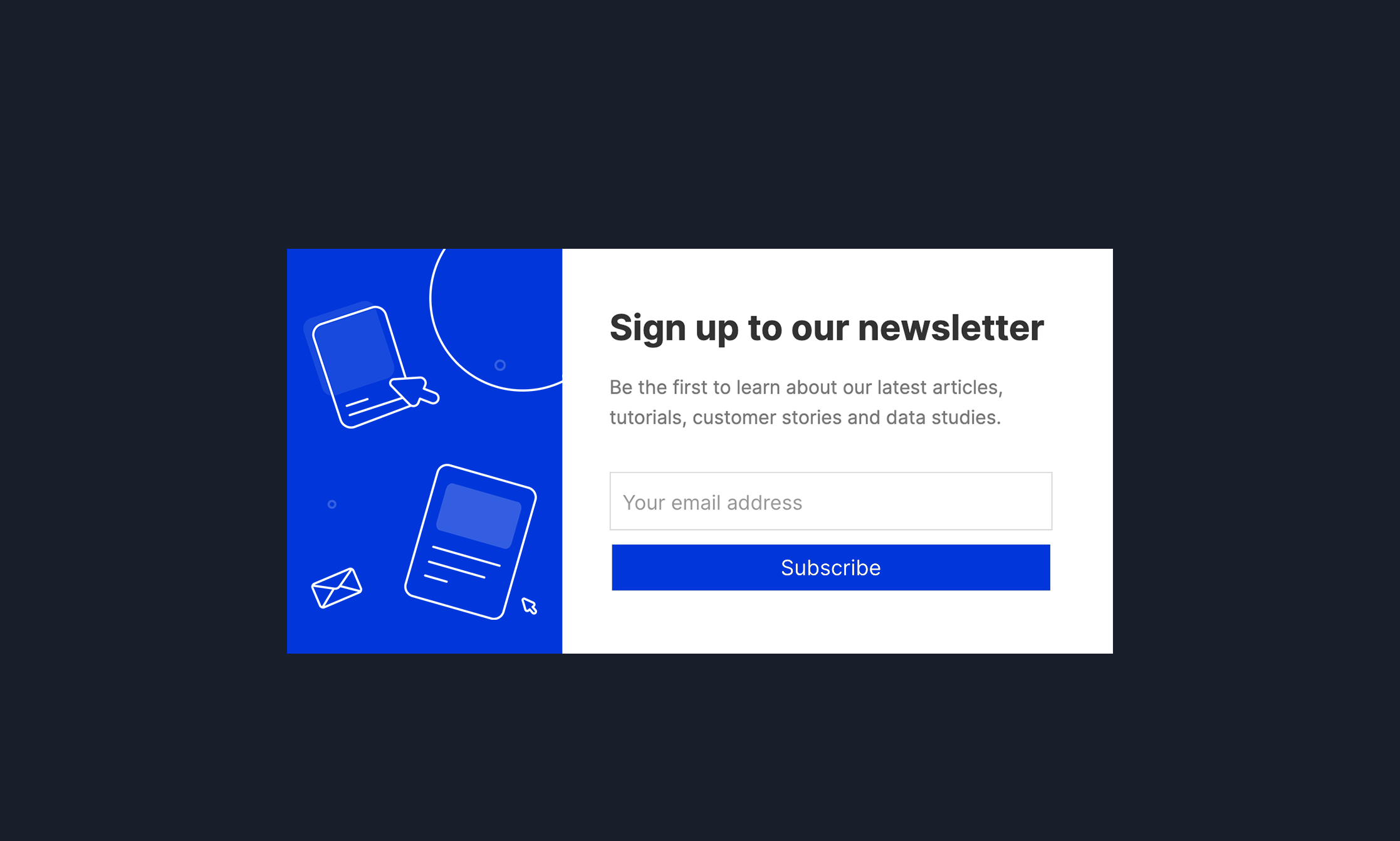 Business Newsletter Popup Template