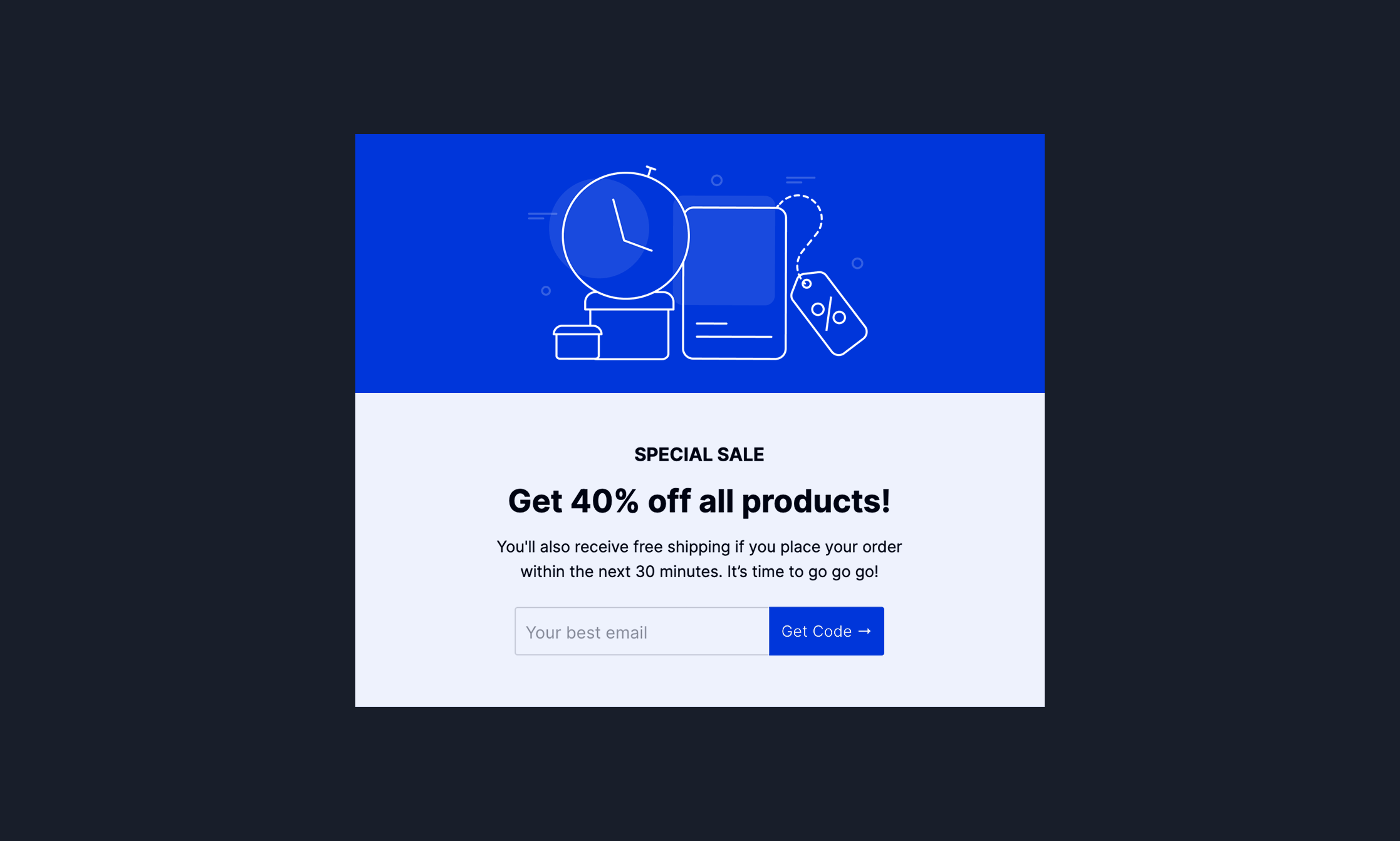 Discount Offer Popup Template