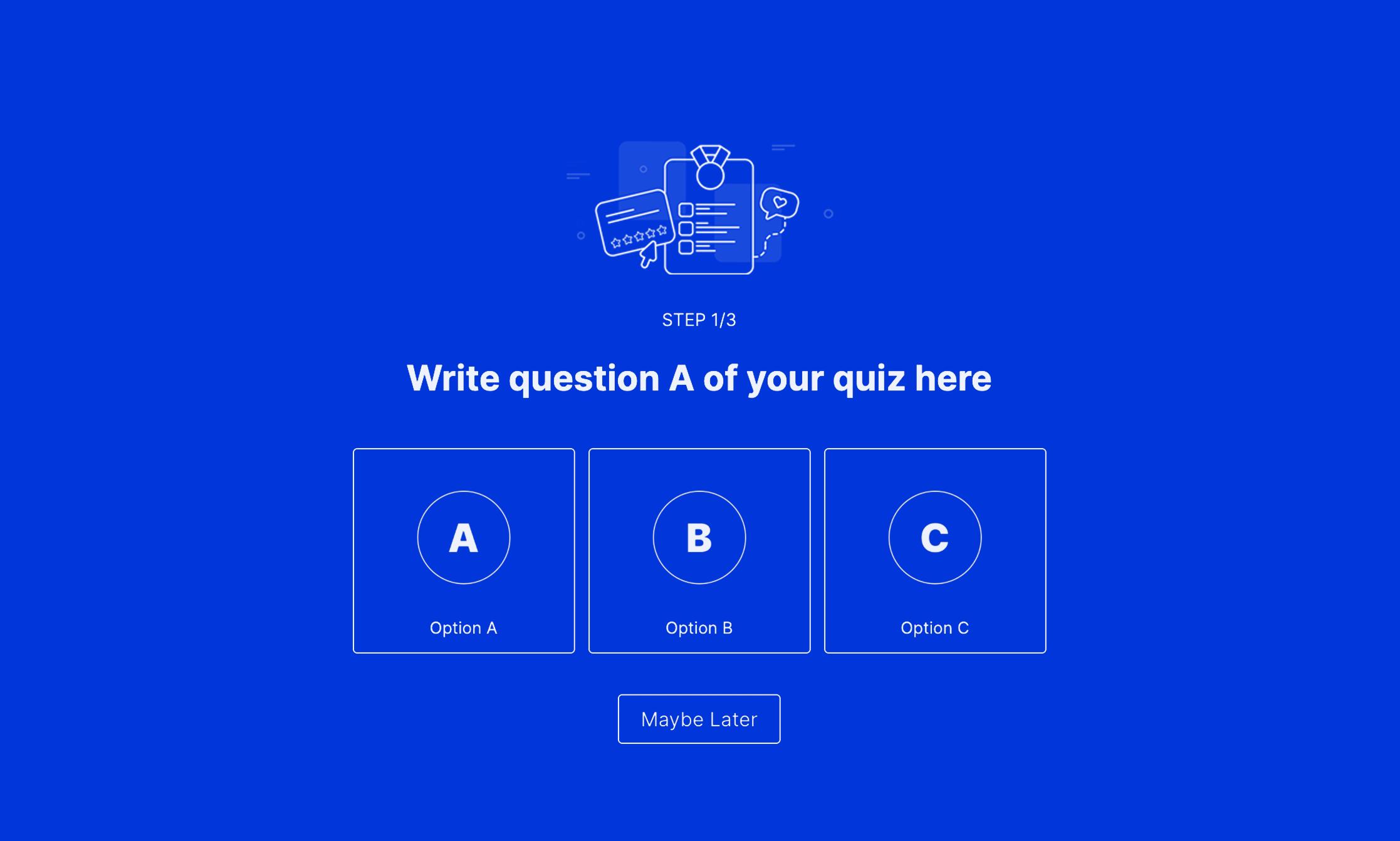 A/B/C Outcome Quiz Landing Template