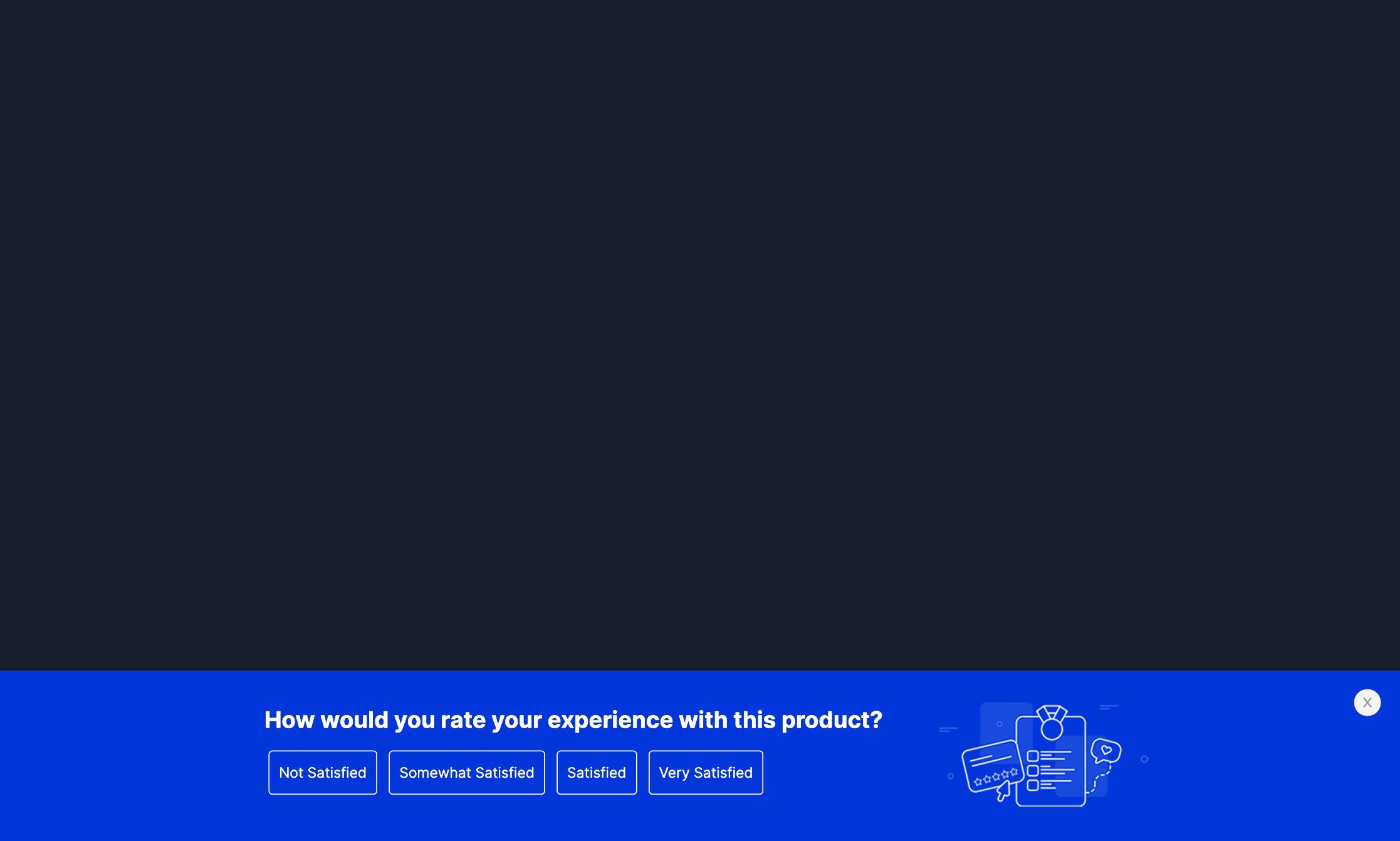 Customer Survey Sticky Bar Template