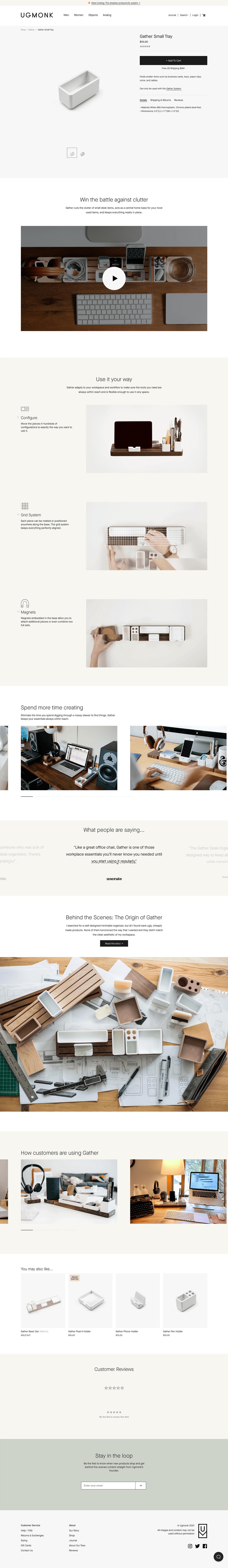 Ugmonk Ecommerce Product Page