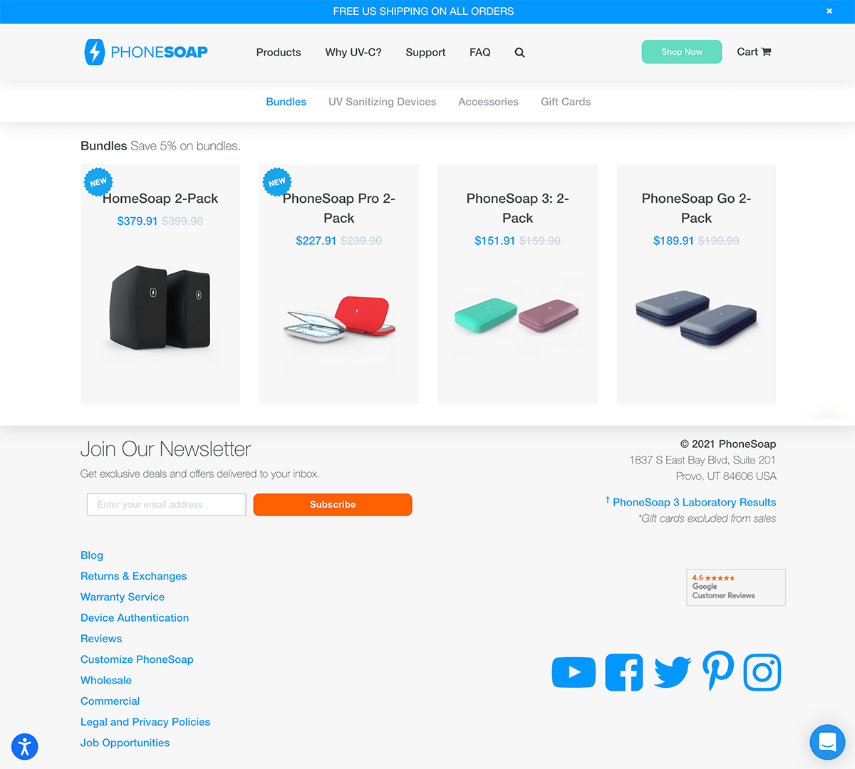 PhoneSoap Ecommerce Category Page