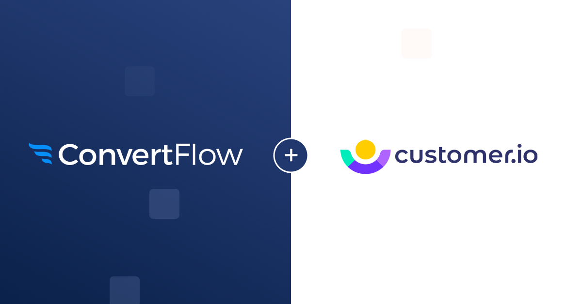 Customer.io integration connect button