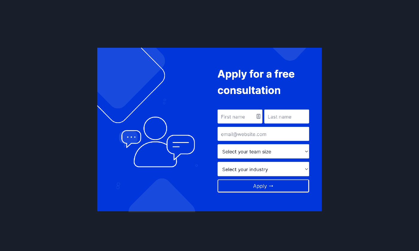 Consultation Schedule Form Popup Template