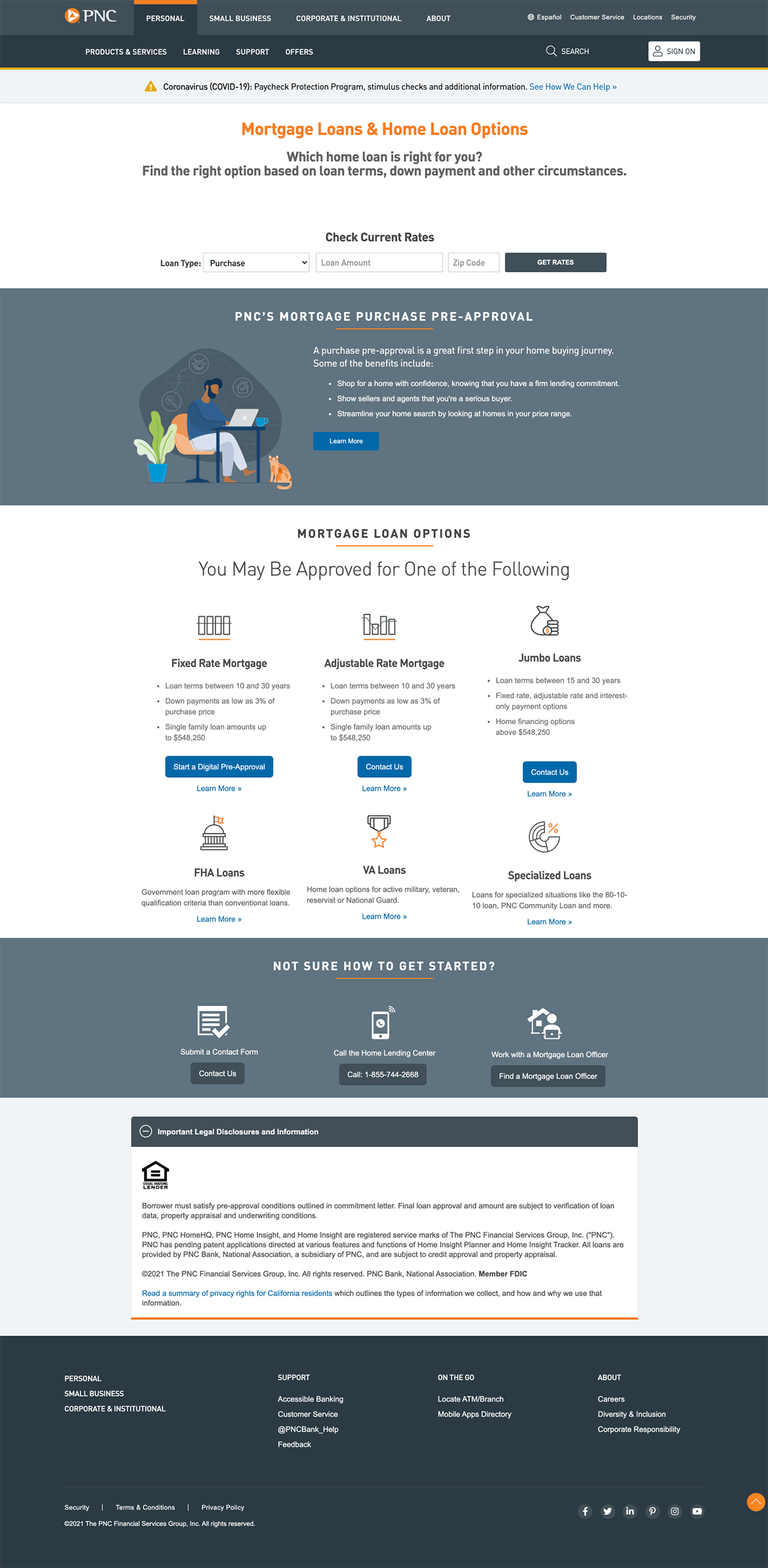 PNC Mortgage Landing Page