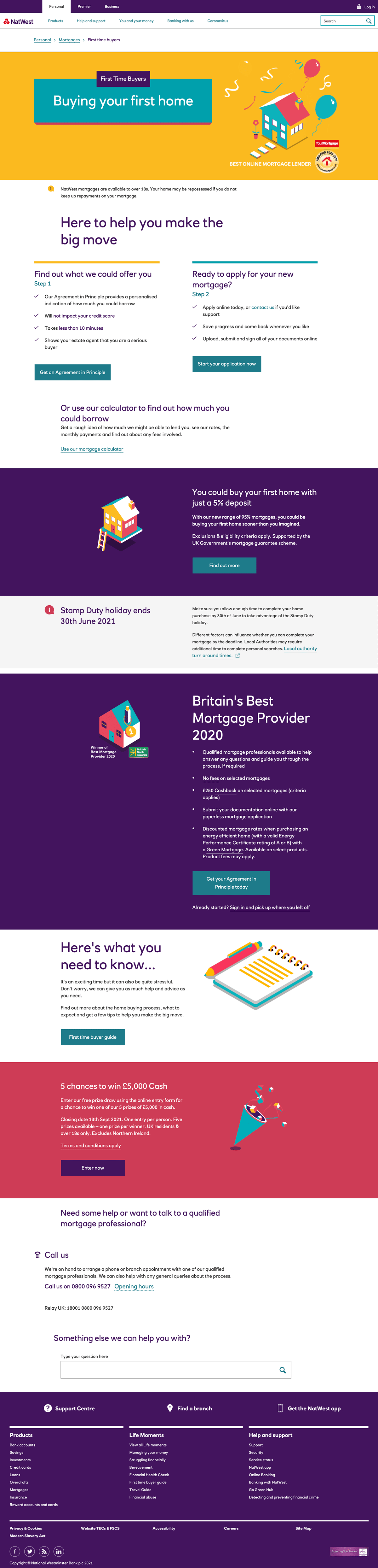 NatWest Mortgage Landing Page