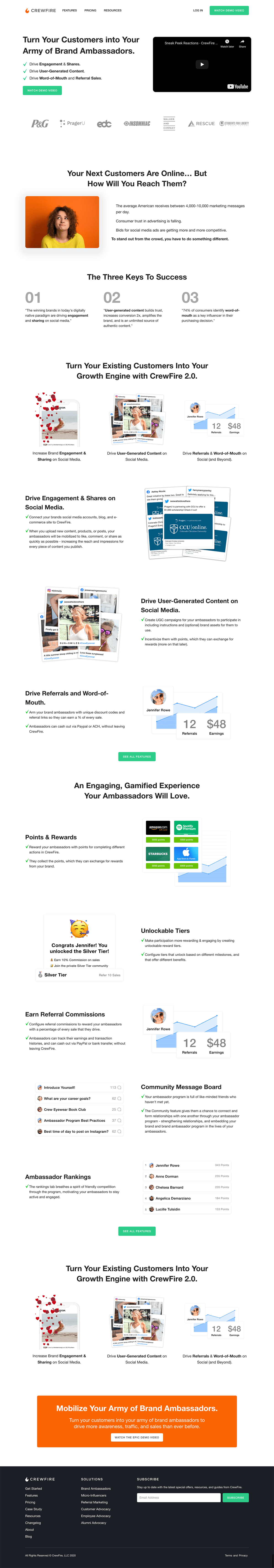 Crewfire Home Page Example