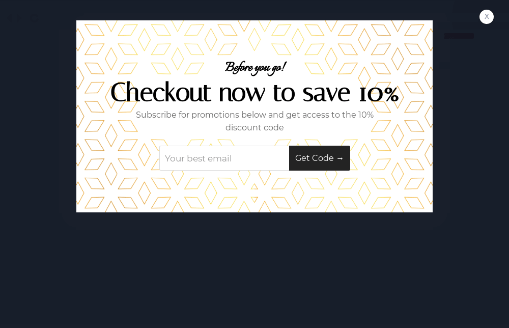 Jewelry Cart Abandonment Popup Template