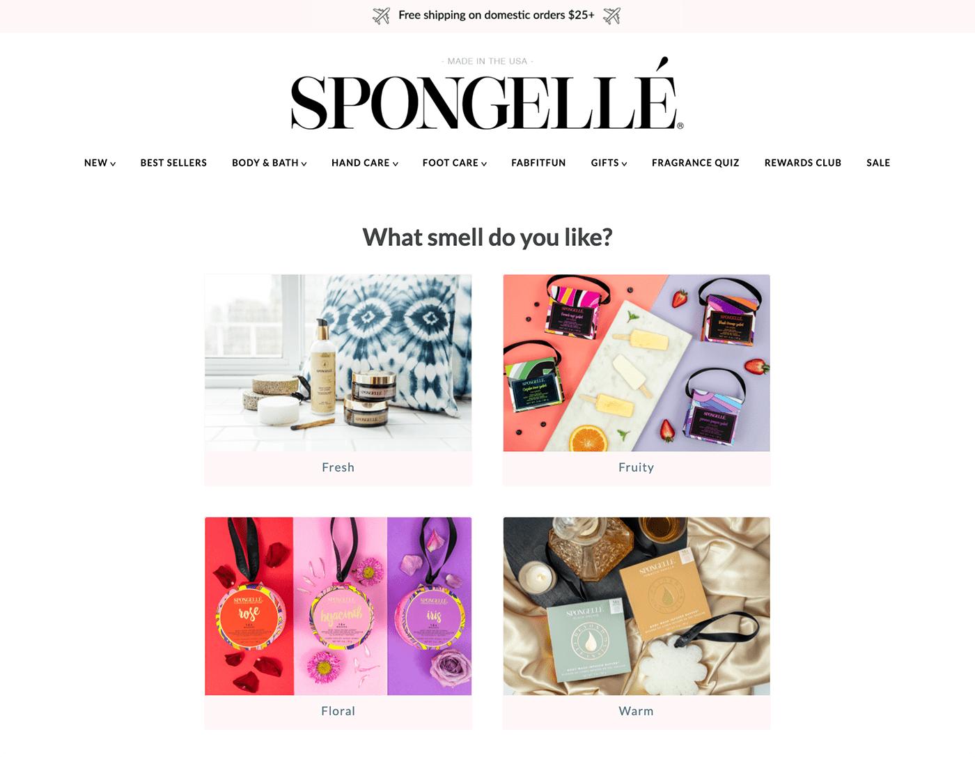 Spongellé Fragrance Quiz Example