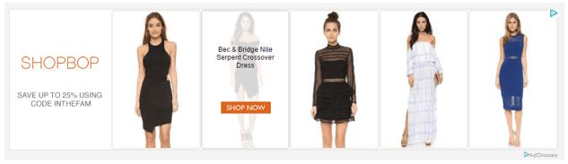 Shopbop display ad