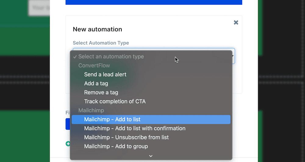 Add to MailChimp list