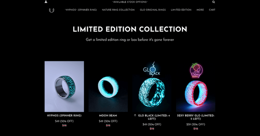 Secret Woods limited edition rings