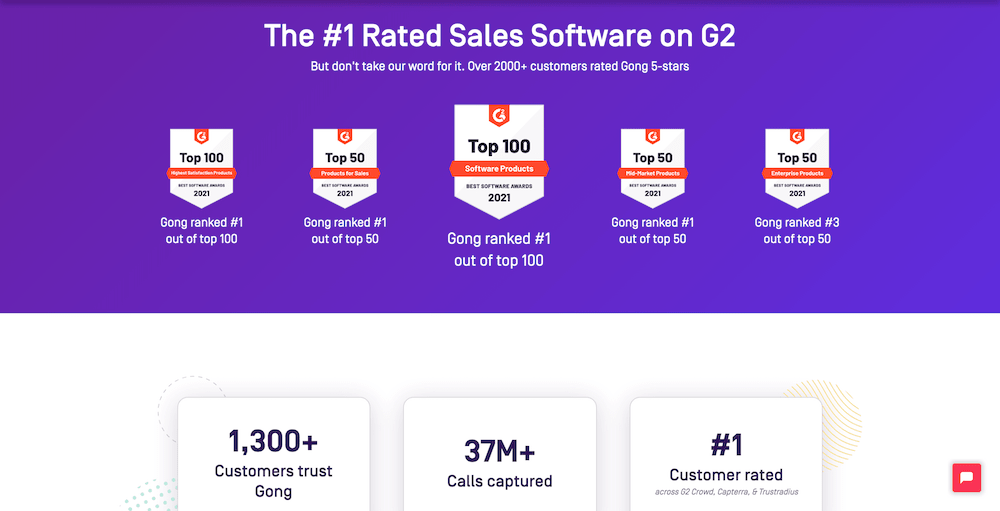 Gong G2 ratings