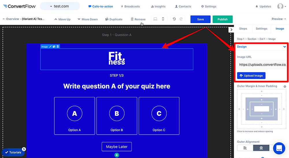 Add logo to quiz step