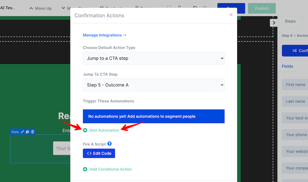 Add new default automation