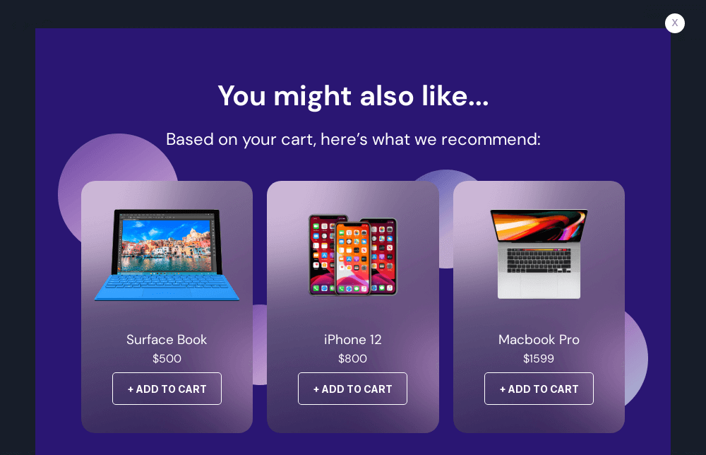 Technology Product Recommendation Popup Template