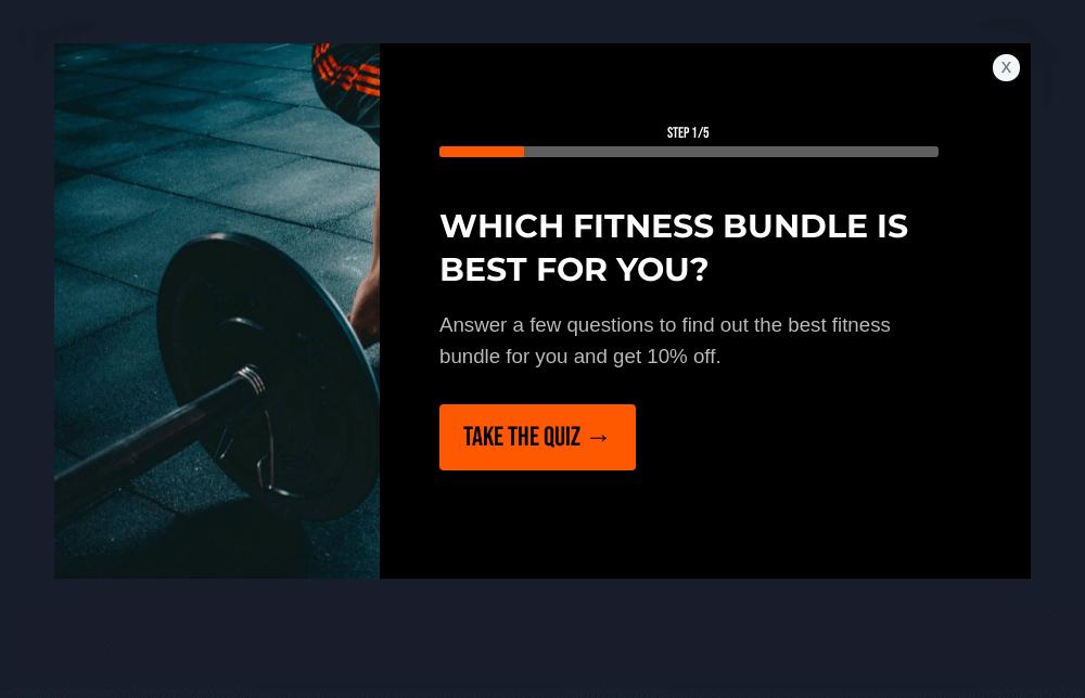 Fitness Shop Quiz Popup Template