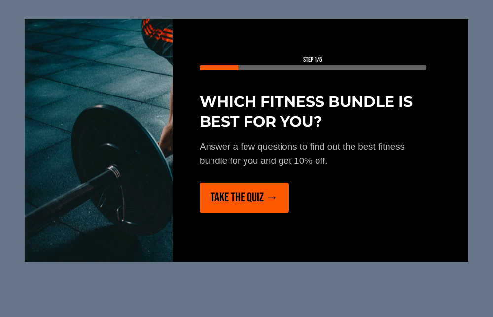 Fitness Product Recommendation Quiz Template