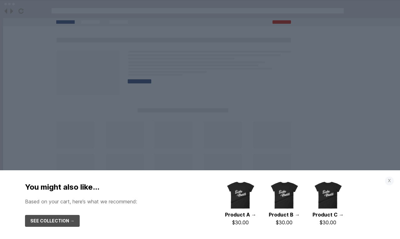 Simple Product Recommendation Sticky Bar Template