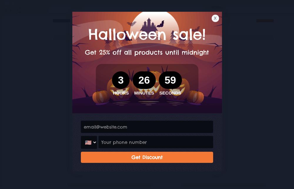 Halloween Sale Popup Template