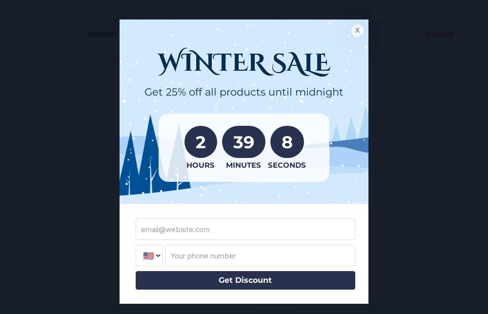 Winter Sale Popup Template
